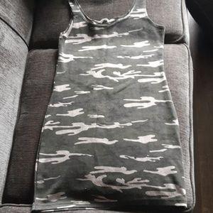 Camoflage mini dress